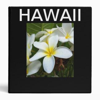 Hawaii Plumeria Flowers 3 Ring Binder