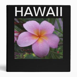 Hawaii Plumeria Flowers Binder