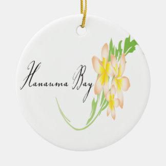 Hawaii Plumeria Flowers Ceramic Ornament