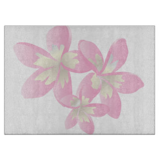Hawaii Plumeria Flowers Cutting Board