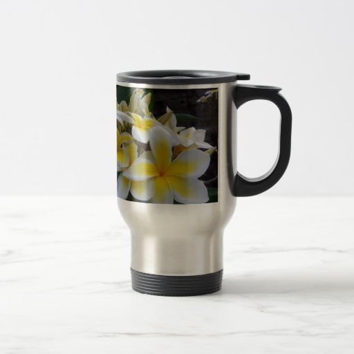 Hawaii Plumeria Flowers Coffee Mugs
