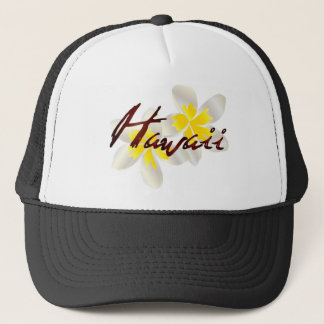 Hawaii Plumeria Flowers Trucker Hat