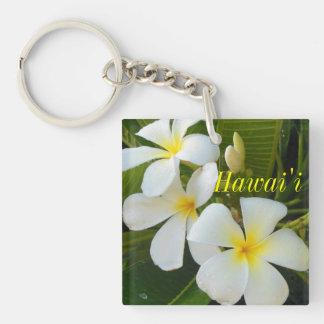 Hawaii Plumeria Keychain