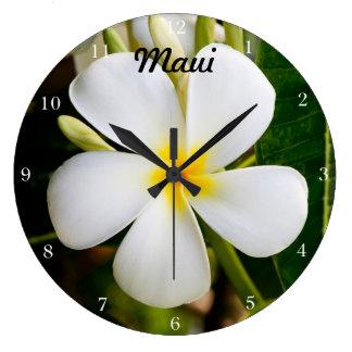 Hawaii Plumeria Large Clock
