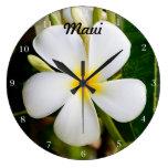 Hawaii Plumeria Wall Clocks