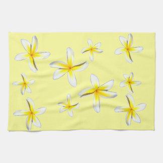 Hawaii Plumeria Yellow and White Towel