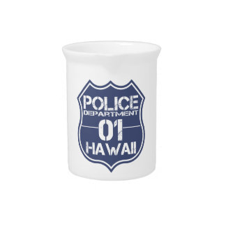 Hawaii Police Department Shield 01 Beverage Pitcher