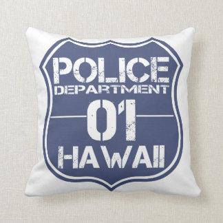 Hawaii Police Department Shield 01 Pillow