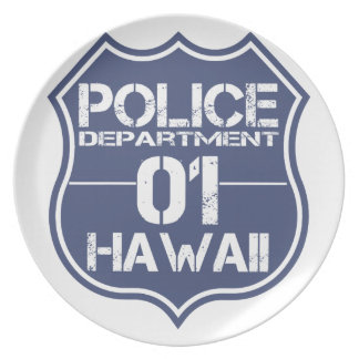 Hawaii Police Department Shield 01 Plate