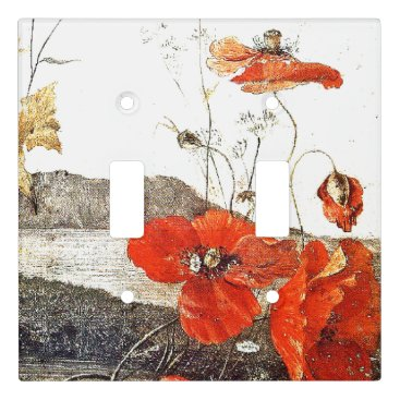 Hawaii Poppy Flowers Floral Light Switch Cover