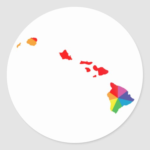 hawaii pride. sticker