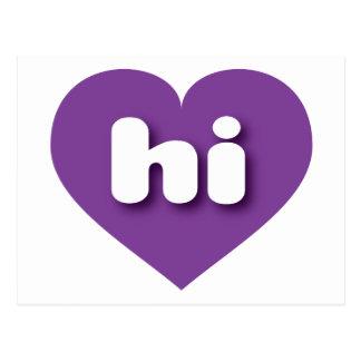 hawaii purple heart - mini love postcard