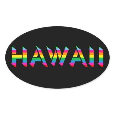 Hawaiian Themed Hawaii Rainbow Stickers
