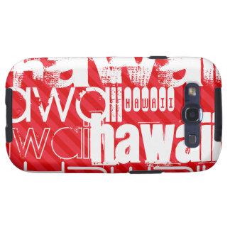 Hawaii; Rayas del rojo del escarlata Samsung Galaxy SIII Funda