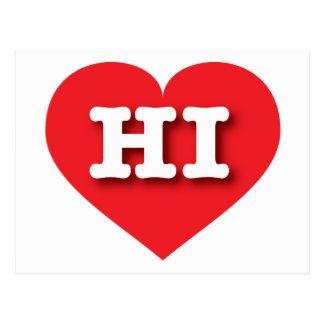 Hawaii Red Heart - Big Love Postcard
