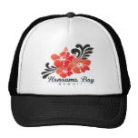Hawaii Red Hibiscus Flowers Mesh Hats