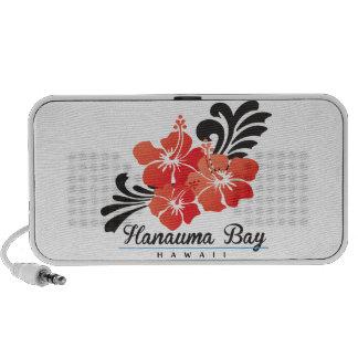Hawaii Red Hibiscus Flowers Mp3 Speakers