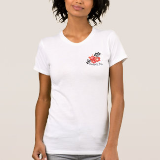 Hawaii Red Hibiscus Flowers T-Shirt