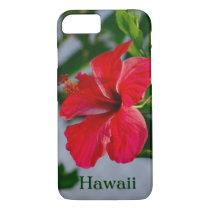 Hawaii Red Hibiscus iPhone 7 Case