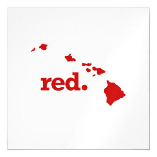 HAWAII RED STATE MAGNETIC CARD