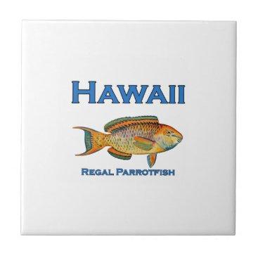 USA Themed Hawaii Regal Parrotfish Tile