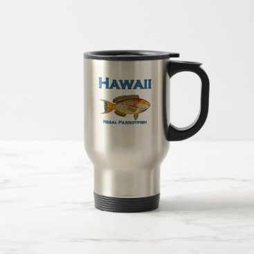 USA Themed Hawaii Regal Parrotfish Travel Mug