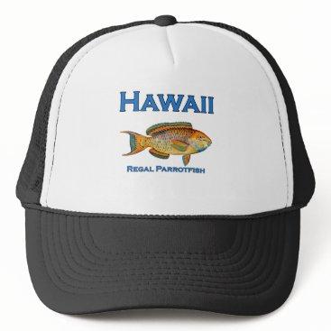 USA Themed Hawaii Regal Parrotfish Trucker Hat