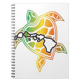 Hawaii Reggae Turtle Note Book