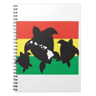 Hawaii Reggae Turtle Notebook