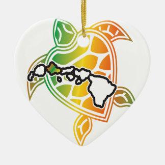 Hawaii Reggae Turtle Christmas Tree Ornament