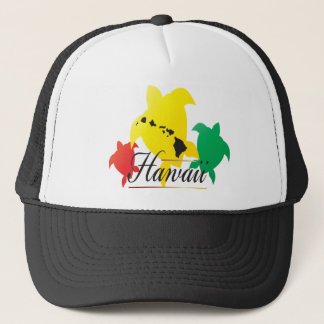 Hawaii Reggae Turtles Trucker Hat