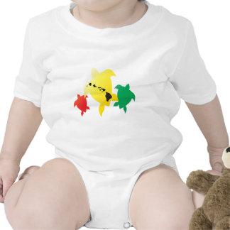 Hawaii Reggae Turtles Baby Bodysuit