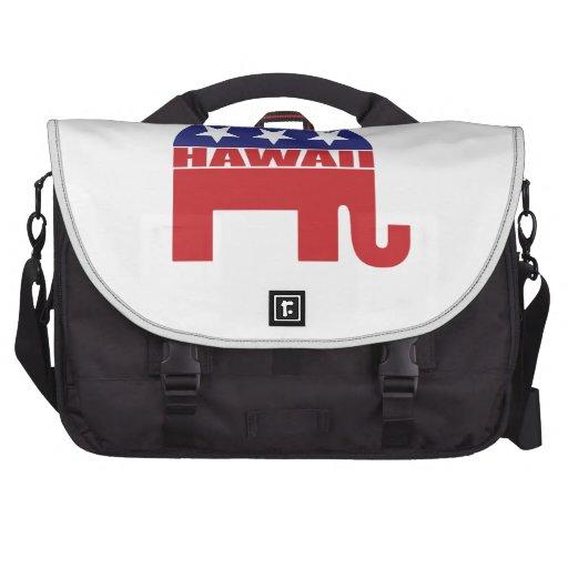 Hawaii Republican Elephant Laptop Commuter Bag