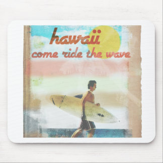 Hawaii Retro Mouse Pad