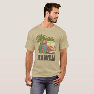 Hawaii Retro Surfing Distressed T-Shirt