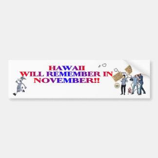 Hawaii - Return Congress To The People!! Bumper Sticker