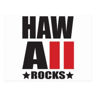 Hawaii Rocks! State Spirit Apparel Postcard