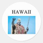 hawaii round stickers