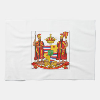 Hawaii Royal Coat of Arms Kitchen Towels