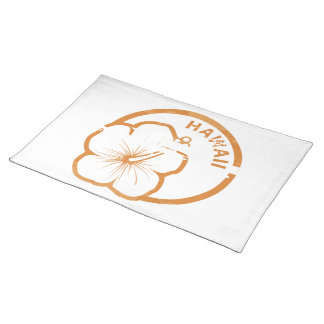 Hawaii rubber stamp place mat