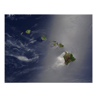 Hawaii Satellite View Poster