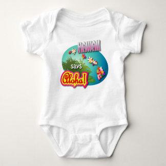 Hawaii Says Aloha Baby Bodysuit
