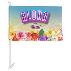 Hawaii Says Aloha! Car Flag