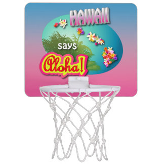 Hawaii Says Aloha! Mini Basketball Backboard