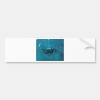 Hawaii scuba diver bumper sticker