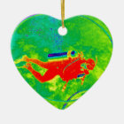 Hawaii Scuba Diver Ceramic Ornament