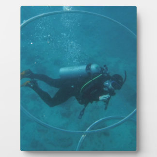 Hawaii scuba diver plaque