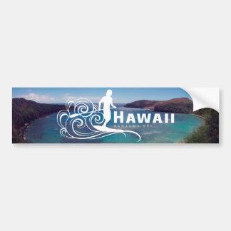 Hawaii se levanta la paleta y la bahía de Hanauma Pegatina Para Auto