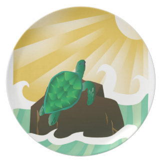 Hawaii Sea Turtle Melamine Plate