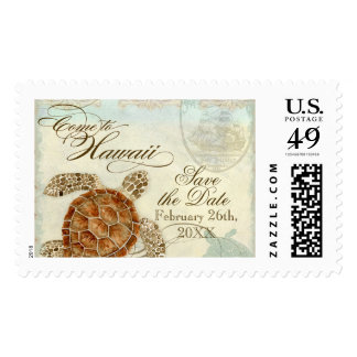 Hawaii Sea Turtle Modern Coastal Ocean Beach Postage
